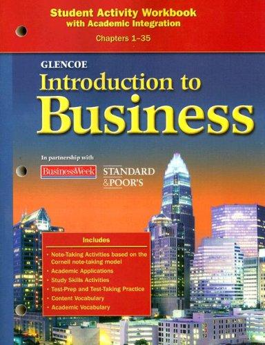Download Introduction to Business Student Activity Workbook Chapters 1-35