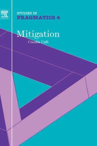 Image for Mitigation (Studies in Pragmatics Volume 4)
