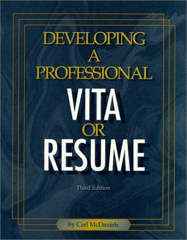 Developing a professional vita or resume