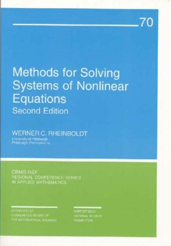 Download Methods for solving systems of nonlinear equations