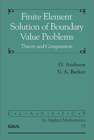 Download Finite element solution of boundary value problems