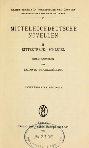 Download Mittelhochdeutsche Novellen
