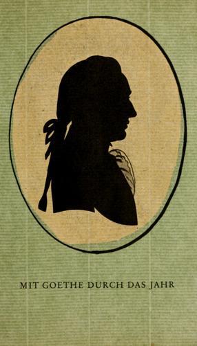 Download Mit Goethe durch das Jahr