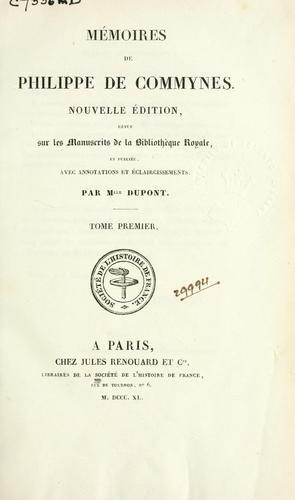 Download Mémoires de Philippe de Commynes.