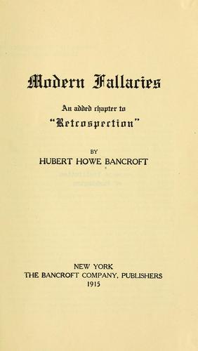 Modern fallacies