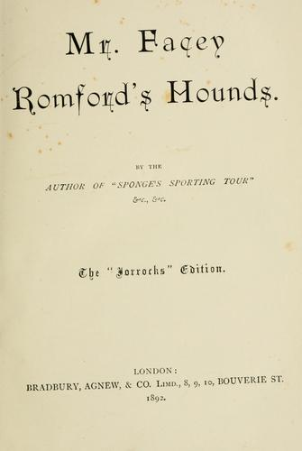 Download Mr. Facey Romford's hounds.