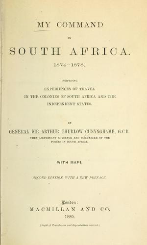 Download My command in South Africa, 1874-1878