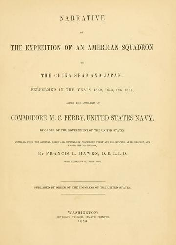 Download Narrative of the expedition of an American squadron to the China Seas and Japan