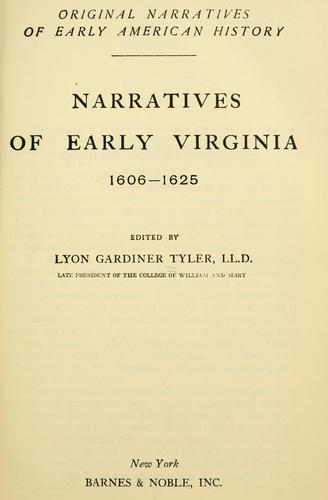 Download Narratives of early Virginia, 1606-1625
