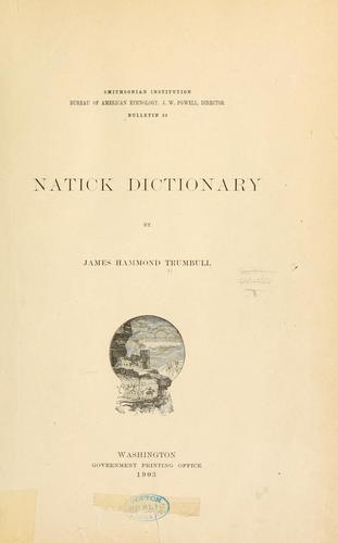 Natick dictionary