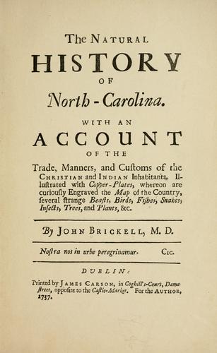 The natural history of North-Carolina.