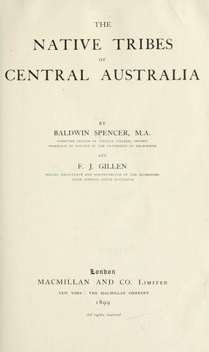 Download The native tribes of Central Australia