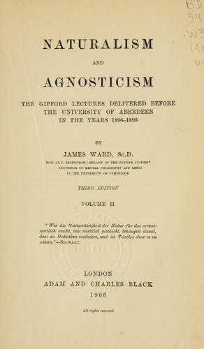Naturalism and agnosticism