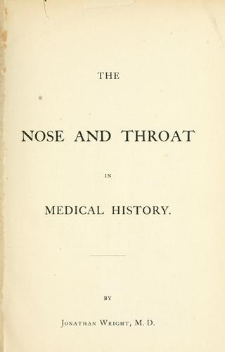Download The nose and throat in medical history.