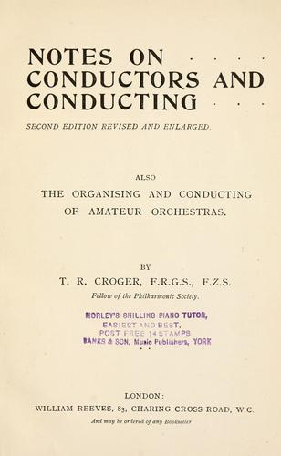 Download Notes on conductors and conducting.