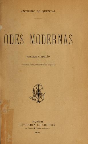 Download Odes modernas.