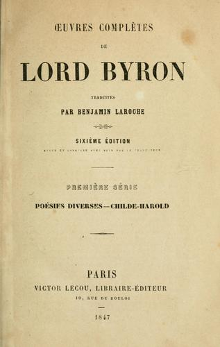 OEuvres complètes de Lord Byron