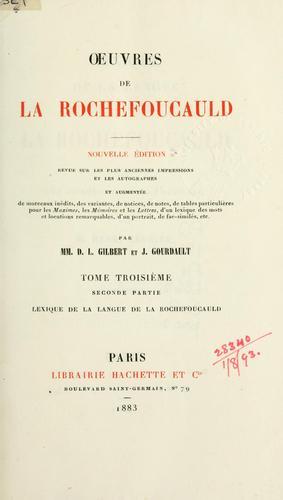 OEuvres de La Rochefoucauld.