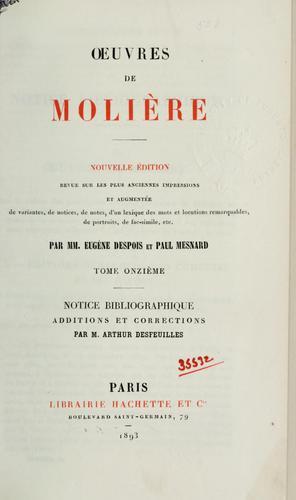 Oeuvres de Molière.