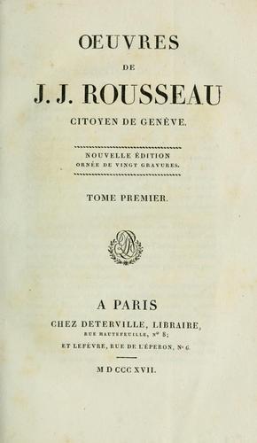 Download Oeuvres de J.J. Rousseau citoyen de Genève.