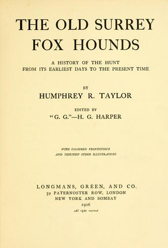 Download The Old Surrey fox hounds