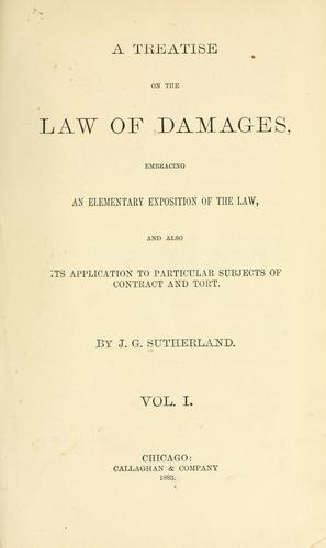 A treatise on the law of damages