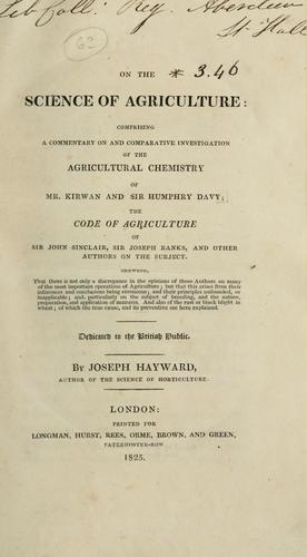 Download On the science of agriculture