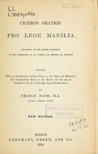 Oration Pro lege Manilia