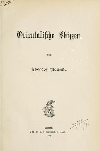 Download Orientalische Skizzen.