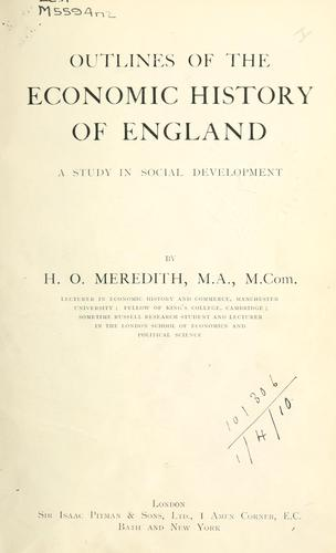 Outlines of the economic history of England