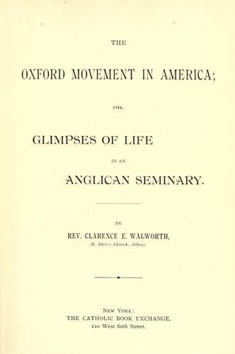 Download The Oxford movement in America