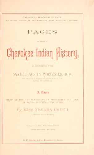 Download Pages from Cherokee Indian history