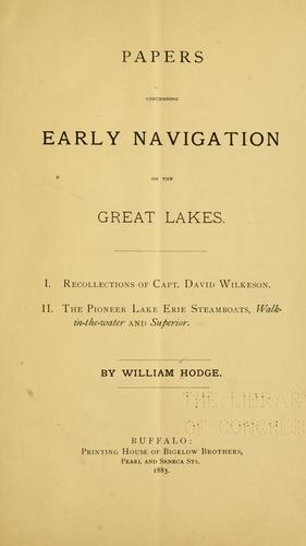Download Papers concerning early navigation on the Great Lakes.