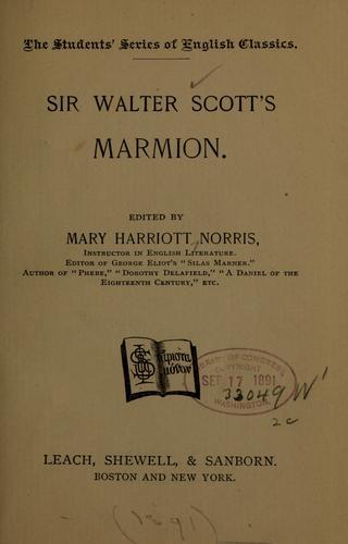 Sir Walter Scott's Marmion