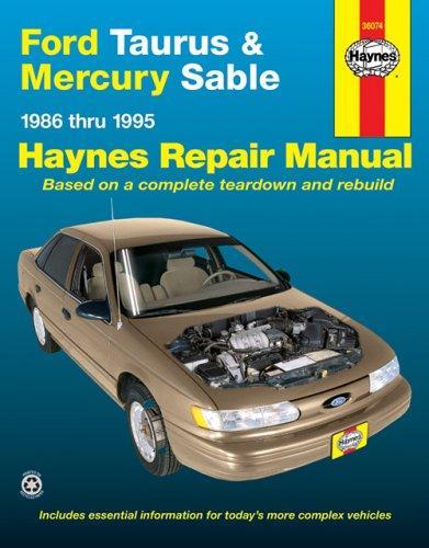 Download Ford Taurus & Mercury Sable automotive repair manual