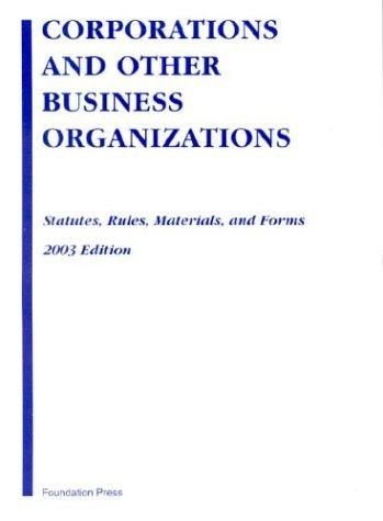 Download Corporations and Other Business Organizations