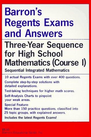 Barron's regents exams and answers.