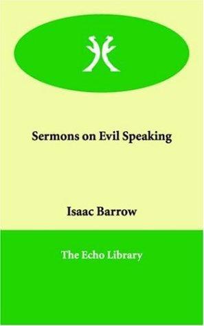 Download Sermons on Evil Speaking