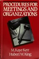 Procedures for meetings and organizations
