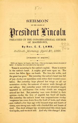 Sermon on the death of President Lincoln