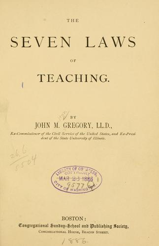 The seven laws of teaching.