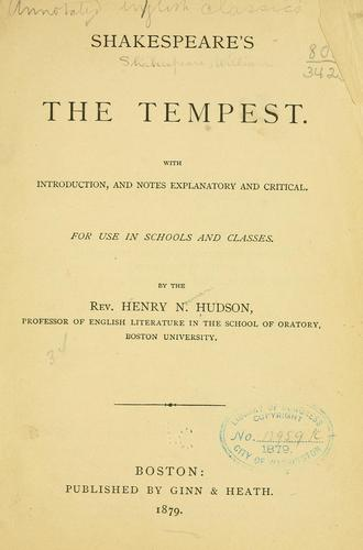 Download Shakespeare's The tempest.