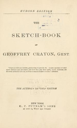Download The sketch-book of Geoffrey Crayon, gent. i.e. W. Irving.