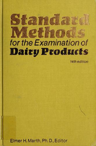Download Standard methods for the examination of dairy products