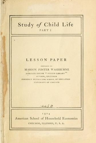 Download Study of child life.