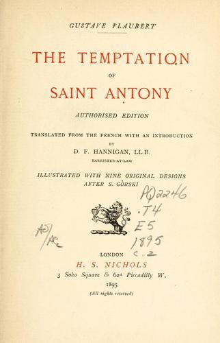 Download The temptation of Saint Antony.
