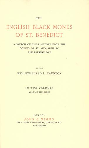 Download The English black monks of St. Benédict