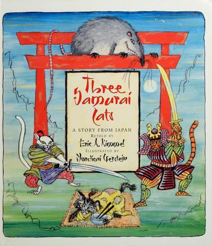 Three samurai cats
