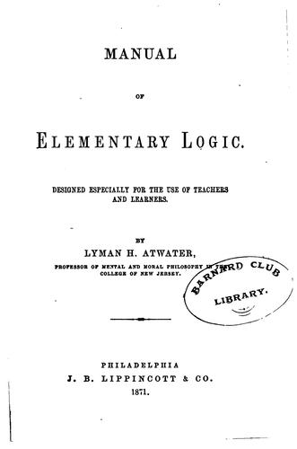 Manual of Elementary Logic