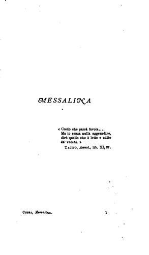 Messalina: commedia in 5 atti in versi con prologo